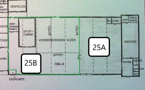 Plattegrond Boxmeerseweg 25B